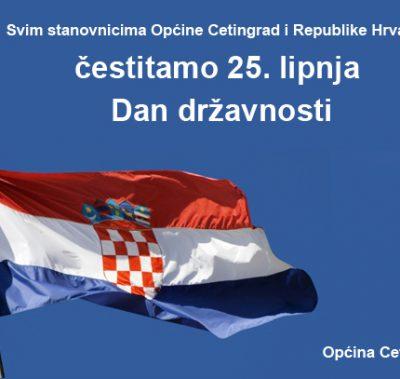 ČESTITAMO VAM DAN DRŽAVNOSTI REPUBLIKE HRVATSKE!